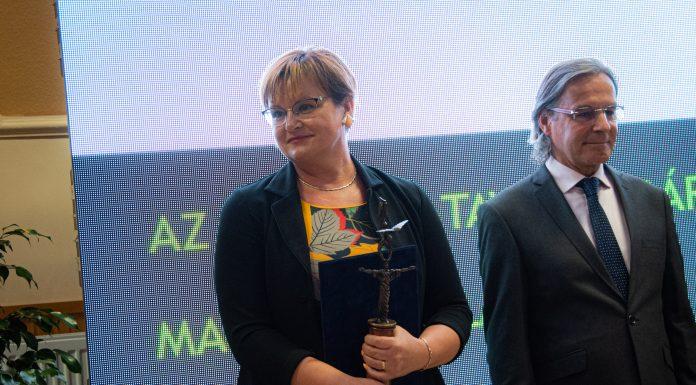 Magyar Csilla a 2019-es év Tisza-tavi Polgármestere. (Fotó: Bekecs Sándor)
