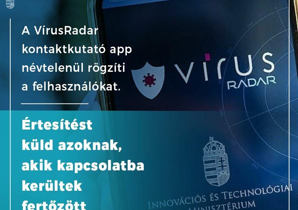 Az új VírusRadar mobilos alkalmazás jelentősen hozzájárul a járvány elleni védekezéshez