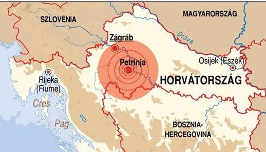 A horvátországi földrengés károsultjainak gyűjtenek