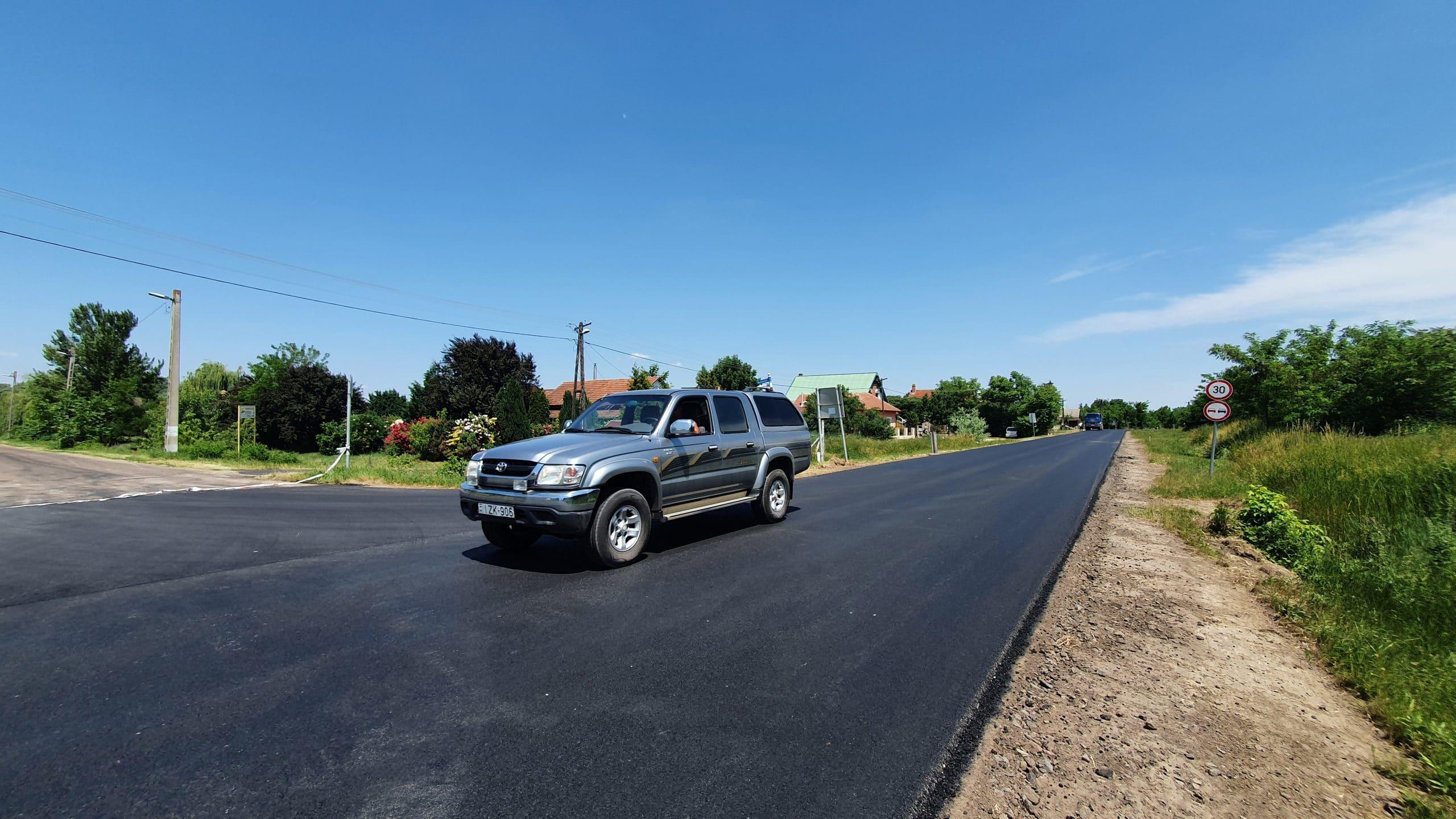 [GALÉRIA] Így áll a szalóki útfelújítás